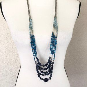 Long Layered Beaded Necklace